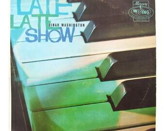 DINAH WASHINGTON - Late Late Show Vinyl Record