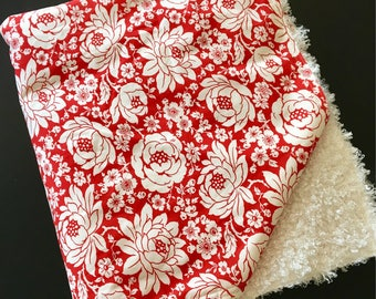 Red Flowered Baby Blanket