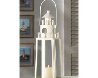 6-Nautical Lighthouse Candle Lanterns