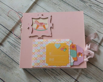 Mini album baby girl size 16.5 x 15 cm