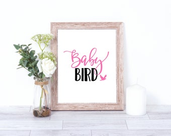 Baby Bird Print, Nursery Art, Nursery Print, Baby Bird art, bird art, bird print, Digital print, Baby Bird, bird nursery theme