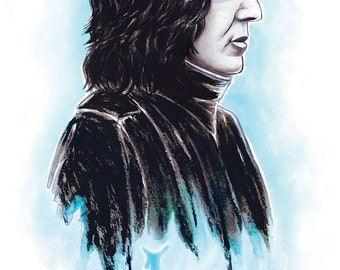 Snape Always Watercolor Poster Print
