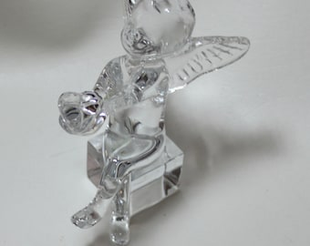 Baccarat Cherub Angel with a Heart in her hands, signed