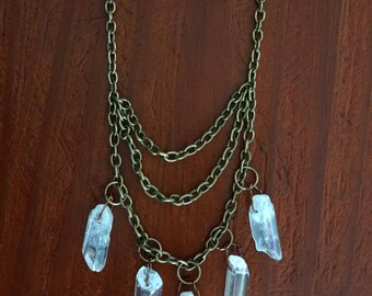 "Crystal Layered Chain ""Crystal Goddess"""