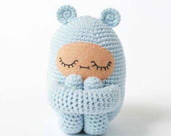 Custom Color Bear Curlie Crochet Doll Made to Order | OOAK Handmade Crochet Doll, Girls Gift, Boys Gift, Childrens Doll