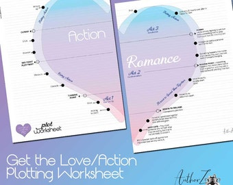 Romance Writing Plotting Worksheet – Digital Download