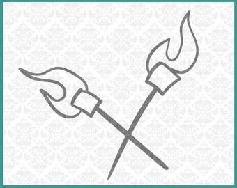 CLN0190 Smores Crossed Marshmallows Cookout Camp Camping SVG DXF Ai Eps PNG Vector Instant Download Commercial Cut File Cricut Silhouette