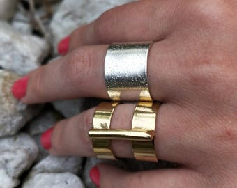 Beautiful gold filled statement ring - ADJUSTABLE