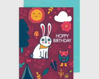 Birthday Card - Hoppy Birthday