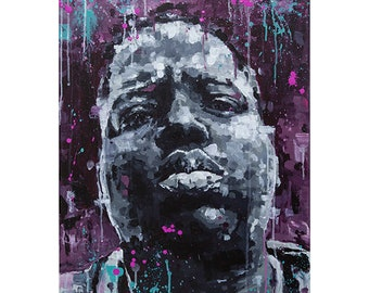 NOTORIOUS B.I.G. from New York Triptic Wall Art Giclee Print, 50cm x 70cm