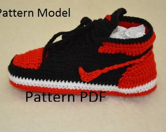CROCHET PATTERN -Nike Air Jordan 1 Crochet adult pattern