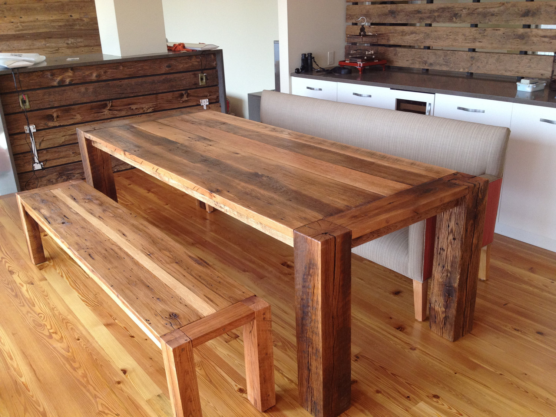 The Corner Spot Reclaimed Oak Beams Dining Table