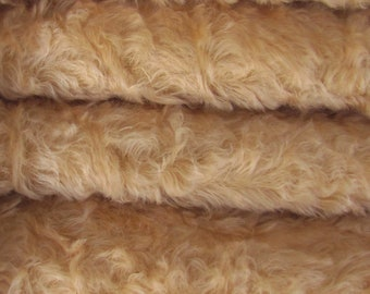 Quality 785S/C - Mohair - 1/6 yard (Fat) in Intercal's Color 533S-Wheat. A German Mohair Fur Fabric for Teddy Bear Making & Crafts