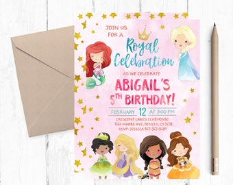 Princess invitations etsy princess invitation birthday princess party invitation princess party invitations princess invitations princess birthday invites filmwisefo