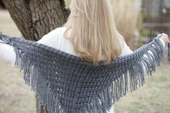 Loom Knit Eyelet Triangle Shawl Pattern Lace Scarf Loom