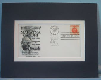 Champion of Liberty - Mahatma Ghandi of india and First Day Cover of his own stamp