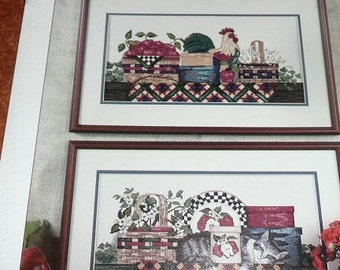 The Design Connection Country Collectibles Cross Stitch Pattern