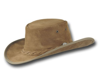 VE Adventures Suede Leather Cowboy Hat 3025HI - Hickory