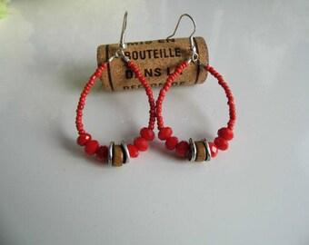 Exotic red Pearl Earrings