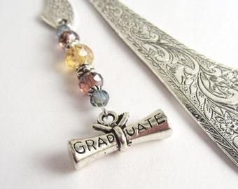 Graduation Bookmark - High School and College Grad Gift Idea - Graduate Diploma Charm Bookmark