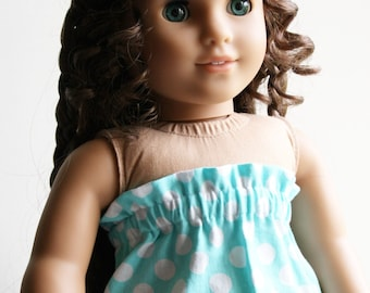 SALE - Fits like American Girl Doll Clothes - Strapless Dress in Aquamarine