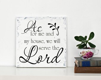 """Christian Wall Decal SM """" As For Me and My House We Will Serve the Lord """" Vinyl Lettering LDS Scripture Wall Sticker"""