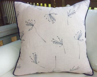 "Kerry Joyce ""Stems"" in soft blush and gray pillow covers"