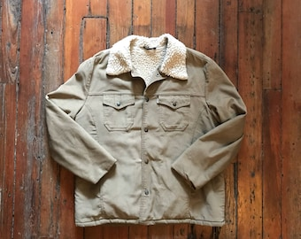 1970's Large Sherpa Lined Corduroy Jacket by Levis