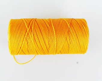 6 m thread nabbed macrame (Linhasita) yellow 1 mm