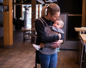 Baby carriers-ergonomic ergonomic carrier made of fabric scarf - Gustine - out belly Babywearing back hip - wrap