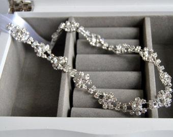 Charm  Crystal rhinestone Ribbon headband headpiece , great gatsby headband, flapper headband, bridesmaid prom headband