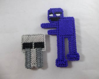 Five Nights at Freddy's Purple Guy and Crying Child Magnets