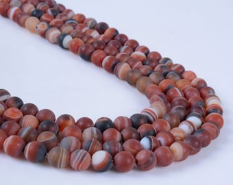 6MM288 6mm Frosted dream agate round ball loose gemstone beads 16""