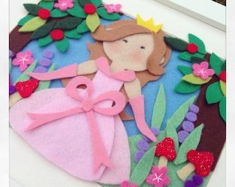 Princess pictures frame handmade