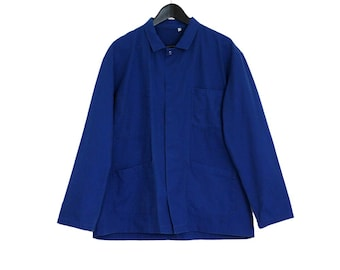 1980s french vintage work jacket blue working jacket - vintage clothing