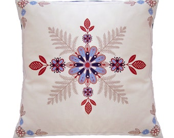 Folk Art Floral Cushion