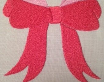 Large Floppy Bow machine embroidery design