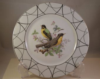 Vintage  porcelain plate bird figure