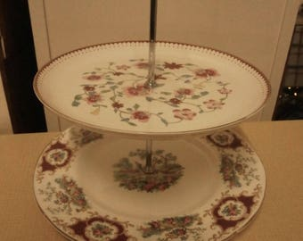 2 Tier Cake Stand - Vintage