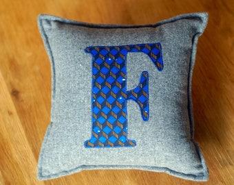 African Print, Alphabet Cushion, Letter Cushion, Personalised Cushion, Decorative Cushion, Initial Cushion - F