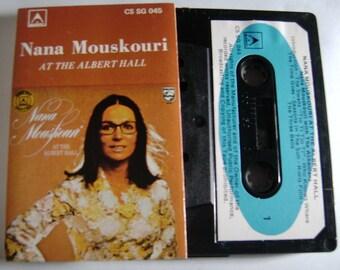 1970s NANA MOUSKOURI At The Albert Hall Vintage Audio CASSETTE Tape Greek Music