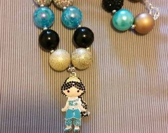 Child size Jasmine inspired chunky bead necklace