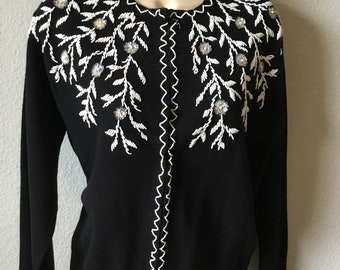 1960s Carson Pirie Scott beaded sweater