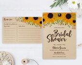 Sunflower bridal shower i...
