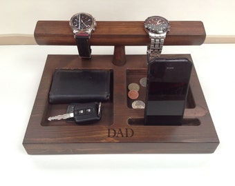 Personalised Watch stand bedside organiser