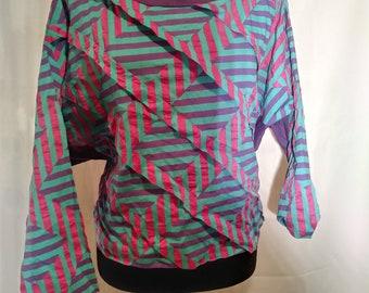 Striped Vintage Long Sleeve Crop