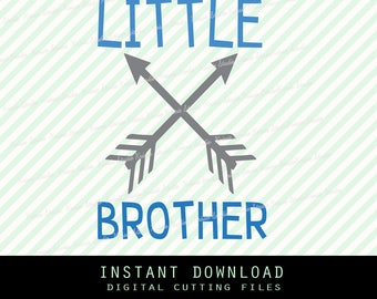 LITTLE brother arrow Svg ,Png,JPG ,DXF cutting file Cricut silhouette cameo cut file - Instant Download - ( Brother collection no.12)