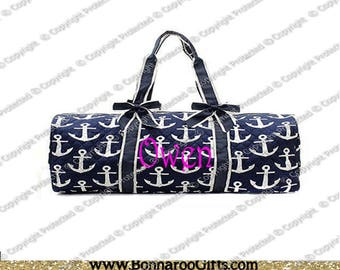 monogram anchor duffel- overnight bag-luggage