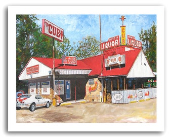"Shreveport ""Cub Lounge"" Restaurant Cafe Bar and Grill SS Camaro Art Print Signed and Numbered"