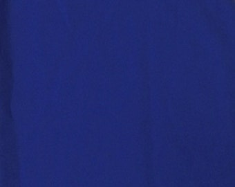 """Royal Blue Cotton Polyester Broadcloth Fabric 60"""" Inches Apparel Solid PolyCotton Per Yard"""